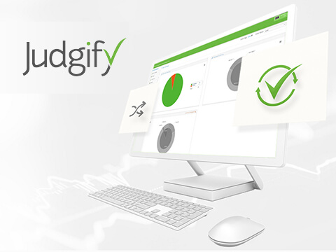 Website for Judgify management solutions